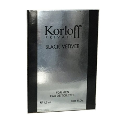 Korloff Black Vetiver Sample for men and women-سمپل کورلوف بلک وتیور مردانه  و زنانه